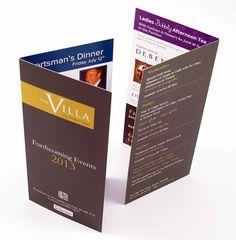 Folded colour leaflets Flower Fashion, Afternoon Tea, Bubbles, Leaflets, Brochures, Villa, Colour, Color, Floral Fashion