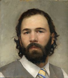 Gregory Mortenson Self-Portrait 10X9 in.