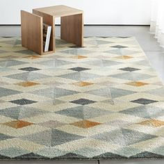 Shop Orson Wool Rug.  Captivated by marble floors seen in Venice, Italy, designer Kate D.  Spain translated the age-old geometric designs into modern-feeling wool rug composed of tonal diamonds on a neutral ground.
