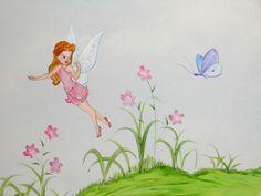 νεραιδες τινκερμπελ παιδικές τοιχογραφίες, ζωγραφική παιδικού δωματίου