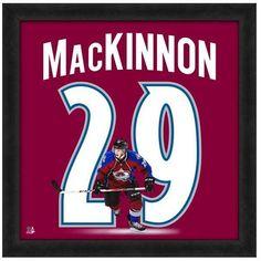 "Officially Licensed Nathan MacKinnon Colorado Avalache - 20"" x 20"" Uniframe"