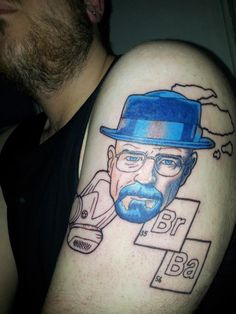 Unfinished blue Walter White Breaking Bad Tattoo a9222ef5cde4