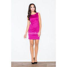 Puzdrové šaty na svadbu v cyklamenovej farbe - fashionday.eu Cowl Neck 0ffee4bc1a1