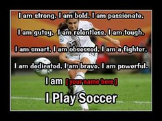 Personalized I Play Soccer Photo Quote Poster by ArleyArtEmporium