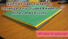 Using 2-pocket student folders to organize your guided reading lessons and notes. LOVE how flexible this system is, as opposed to a binder.