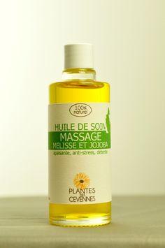 Issue de la macération de la Mélisse et de la lavande, l'huile de soin «Massag