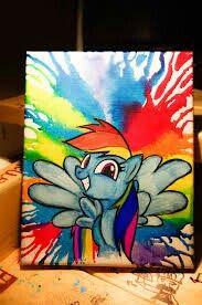 MLP crayon water color
