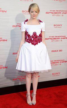 Emma Stone Red Carpet, Emma Stone Style, Race Wear, Jonathan Saunders, Anya Taylor Joy, Hollywood Fashion, Formal Dresses, Wedding Dresses, Beautiful Dresses