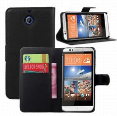For HTC Desire 510 D510W case cover ,New 2014 Lychee leather wallet stand phone case cover For HTC Desire 510  1pcs