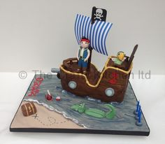 Jake & The Neverland Pirates Cake www.thecraftykitchen.co.uk
