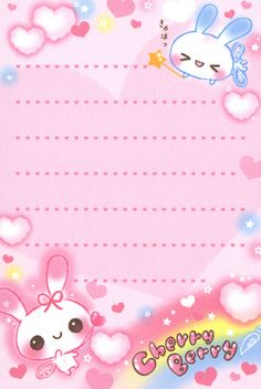 "San-X ""Cherry Berry"" Mini Memo (Sheet) (1) | by Crazy Sugarbunny"
