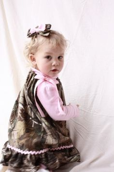 camo baby girl realtree gift set pillowcase dress by haddygrace, $38.00