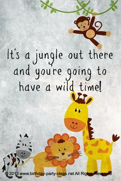 Safari themed birthday party – I like the animals. Possible nursery Safari Party, Safari Theme Birthday, Jungle Theme Parties, Safari Birthday Party, Jungle Party, Animal Birthday, 1st Birthday Parties, Birthday Ideas, Birthday Cards