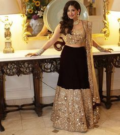 Selling my dark purple, velvet, mirror work reception lehenga, worn last summer. Jewellery is not included.  Hoping to find a new owner who will enjoy it as much as I did!  Please direct message me for price and measurement inquiries.  I am about 5 ft 4 inches tall and wore 4 inch heels with this lehenga.  The price will include shipping costs, if applicable. If you are from the GVRD, we can work out pick up/drop off.
