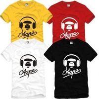 2014 Summer New Men's AAPE T-shirts short sleeve Hiphop Skateboard AAPE T shirts