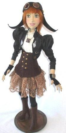 Amelia - Doll Street Dreamers -online doll classes, e-patterns, mixed media art classes, free doll patterns and more