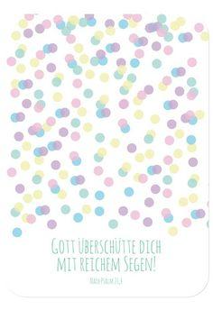 Postkarte - Geburtstag - Konfetti