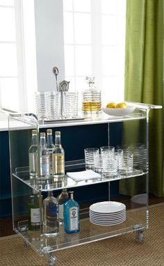 Neiman Marcus Acrylic Bar Cart