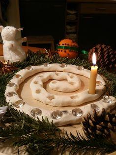 Adventspiraal van brooddeeg / salt dough advent spiral