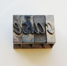 cake letters Letterpress metal type 66pt by Florinandsixpence