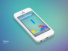 Tetris iOS7 style by Mike Brisk