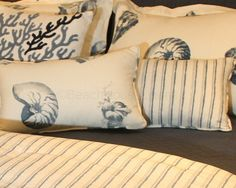 Beach House Boudoir Pillow satisfies your need for the perfect boudoir pillow for our Seaside bed. Great on the bed or in a side chair to continue the pattern.