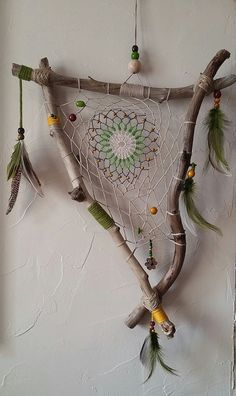Valentines Jewelry: Dreamcatcher for Sophie ., # Check m. - Valentines Jewelry: Dreamcatcher for Sophie … - Dream Catcher Jewelry, Dream Catcher Craft, Homemade Dream Catchers, Making Dream Catchers, Diy And Crafts, Arts And Crafts, Deco Nature, Driftwood Crafts, Driftwood Ideas