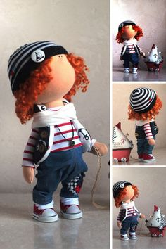 Niño muñeca rusa muñeca invierno muñeca hecha por AnnKirillartPlace