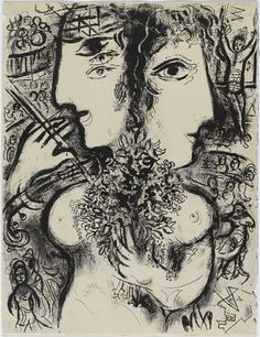 Illustration de la série : Cirque. Chagall, 1966.