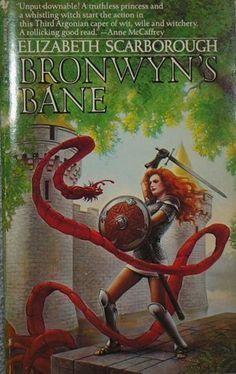 Bronwyn's Bane by Elizabeth Ann Scarborough, http://www.amazon.com/dp/0553251031/ref=cm_sw_r_pi_dp_9DVuqb0R887PA