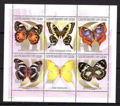 Mali 2000 Insects butterflies MNH Mi.2534-39 Klb. --(cv 18 EUR)