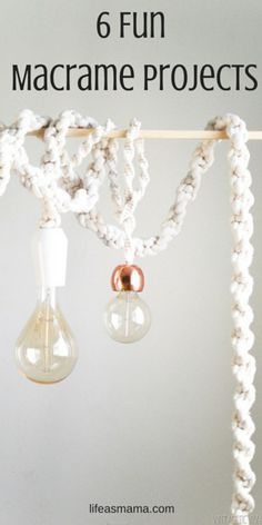 These projects serve as fantastic practice for macrame beginners and good old-fashioned fun for the pros out there. Whether you're planning on tackling them alone or involving the family, these DIY's are the perfect summertime activity.