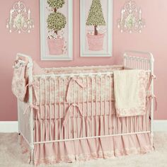 Taylors Toile Baby Bedding in Pink from PoshTots