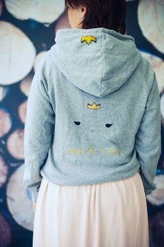 Queen for a Day Hoodie Grey Sweatshirt #queen #hoodie #wedding #weddingshower #weddingparty #bachelorette #fairytale #fairytalewedding #woodlandwedding #woodlandfashion #fairytalefashion #fairtrade