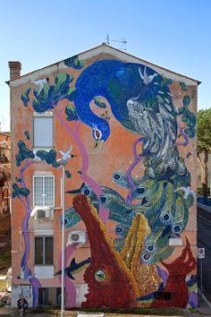 Hitnes mural in Rome (San Basilio)
