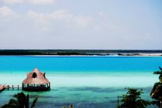 Shades of blue Bacalar Mexico