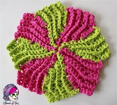 This washcloth has a very interesting design.This is a super clever crochet pattern that looks like the knit Almost Lost Washcloth! Circle Point Washcloth by Glamour4You is super easy and fun to make an instant gratification project. It looks great crocheted in solids, ombres or two-tones. I was looking for a unique dishcloth pattern that …