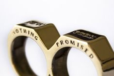 Two fingered ring. Didn't we use to call these brass knuckles? LOL