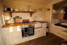 Shepherds Hut Interior Plans for Holidays: 99 Ideas You Should Try - Caravan Renovation, Shepherds Hut, Compact Living, Small Places, Tiny Spaces, Tiny House Living, Tiny House Design, Small Space Living, Building A House
