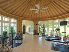 With a gym like this, there's no excuse not to work out.