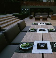 simple contemporary table place settings in pairs - Luciano Giubbilei furniture _ Perfect