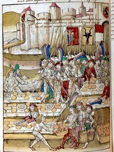 Quartermaster's camp. Chronicles of Bern (?), Manuscript title: Diebold…