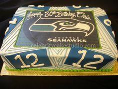 DSC01054 by Celebrity Cake Studio, Seahawks   celebritycakestudio.com  Tacoma WA