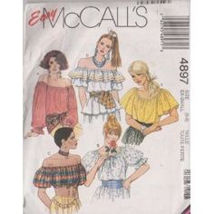 Misses Tops McCall's Sewing Pattern 4897 (Size: 6-8)