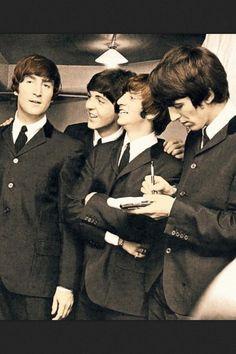 John Lennon, Paul McCartney, Richard Starkey, and George Harrison (they're just beautiful!)