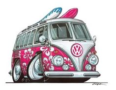 Hippie Splitty Surf Bus