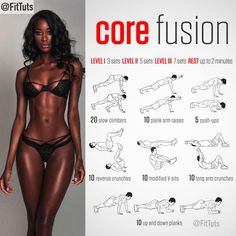 """Fitness Tutorials 〽️ on Instagram: """"Core fusion workout! Will you do it? : Tag a friend - like - save 〽️: Follow @FitTuts"""""""
