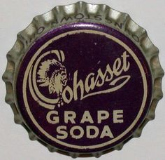 Vintage soda pop bottle cap COHASSET GRAPE indian pictured cork new old stock | eBay