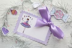 Sugar Plum Party Tag by Icing Designs