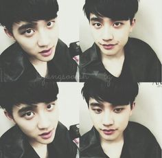 Kyungsoo ◀he looks like he is considering to eat something...